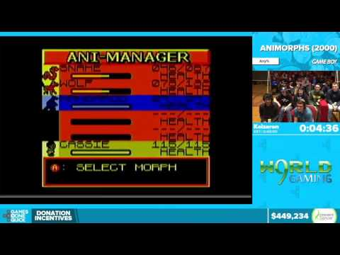 Animorphs by Keizaron in 44:43 - Awesome Games Done Quick 2016 - Part 101