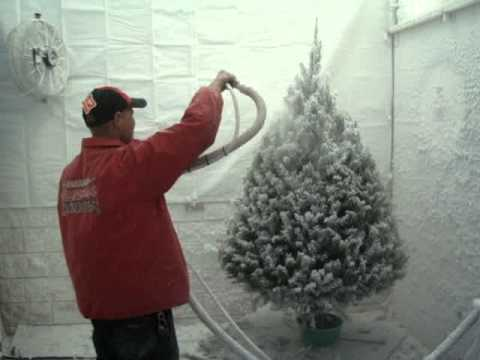 Flocking Christmas Trees - YouTube