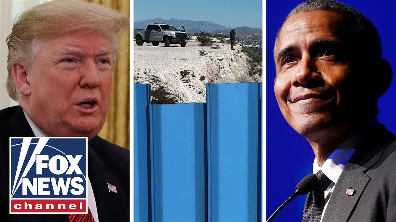 Trump tweets Obama built a wall around his mansion for security