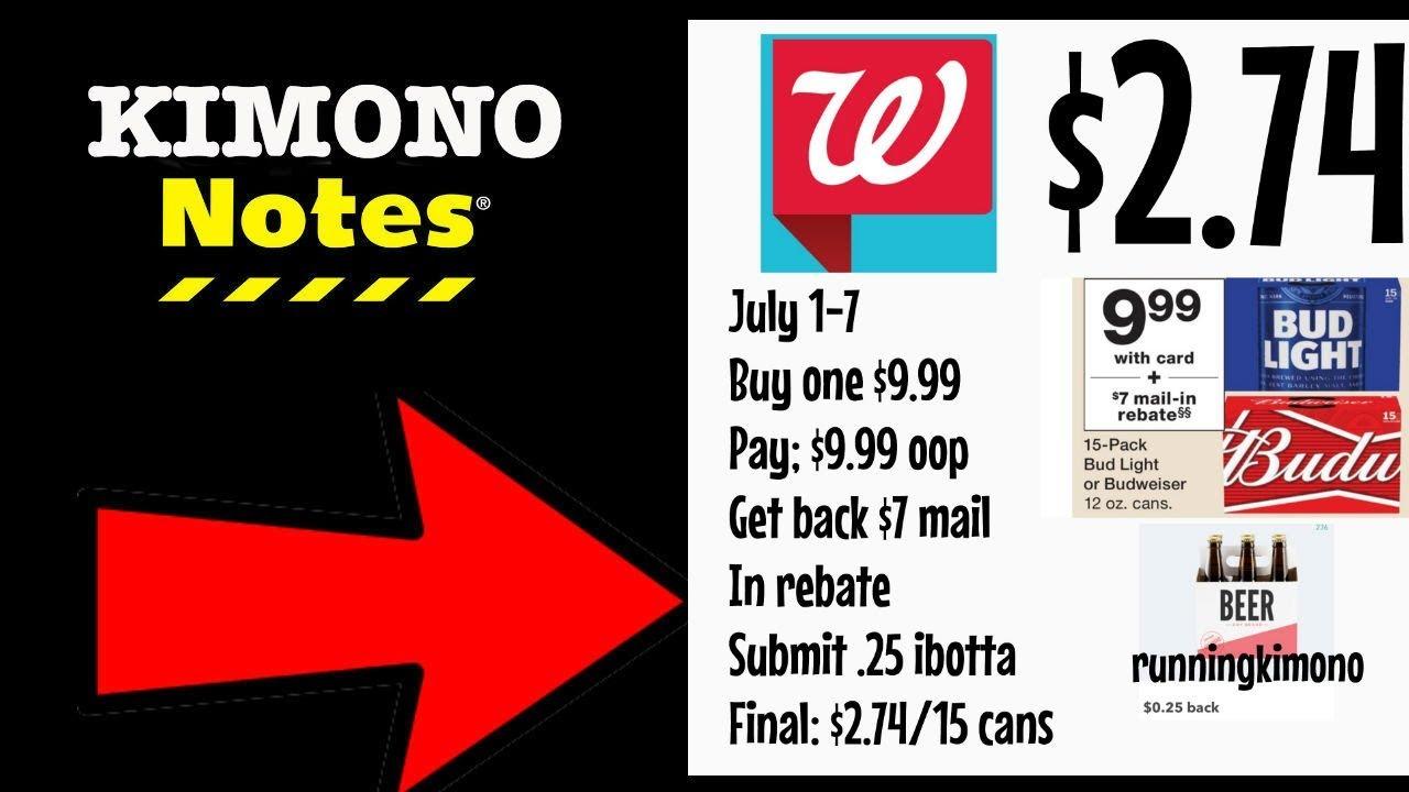 Kimono notes: Walgreens July 1-7