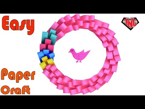 Easy Paper Beautiful Wall Decoration Craft | Christmas Paper Wreath Craft Tutorial