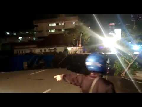Jalan Gubeng Surabaya Ambles Malam Ini