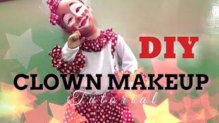 EASY DIY     CLOWN MAKEUP       KIDS MAKEUP TUTORIAL    