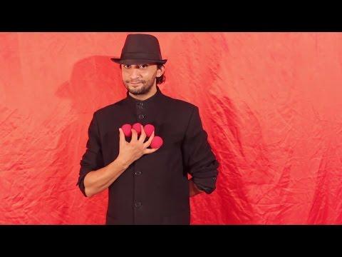 تعلم العاب الخفة # 354 .... magic trick revealed . 4 appearance of sponge ball