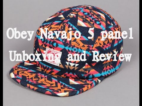 132797a8301 Obey Navajo Print 5 Panel Unboxing + Review - YouTube