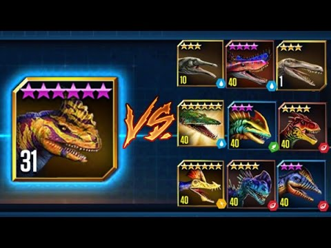 Jurassic World The Game RAJASTEGA Vs 9 Oponentes