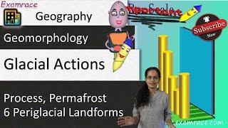 Glacial Action, Process, Permafrost & 6 Periglacial Landforms