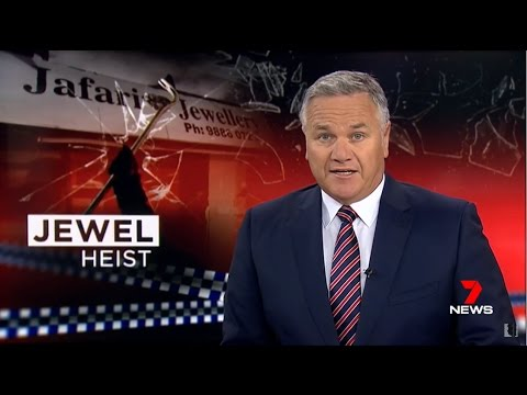 Seven + Nine News. Jewel Heist. (Blacks Raid Jewellery Store, Malvern East)