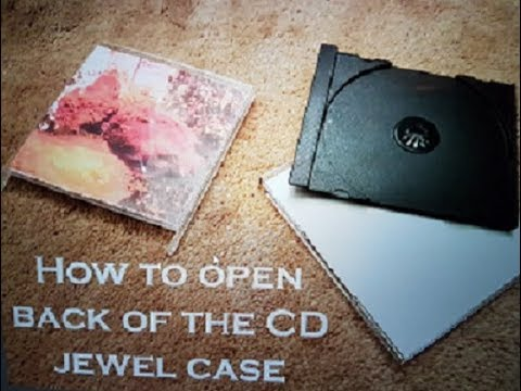 How to open back of the CD jewel case - YouTube