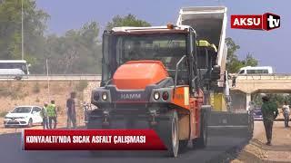 Konyaaltı'nda sıcak asfalt çalışması…