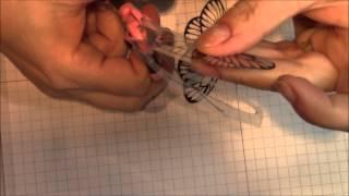 3D Butterflies made from transparency film, TUTORIAL