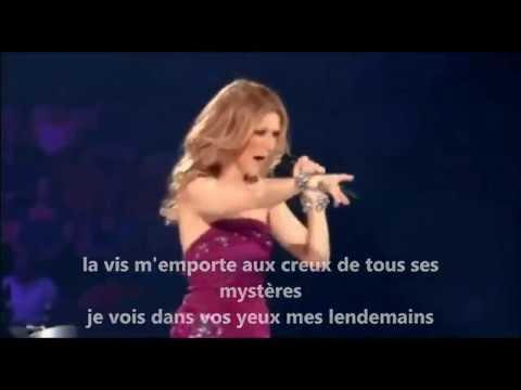 Céline Dion // destin ( paroles// lyrics) // Taking Chances Tour