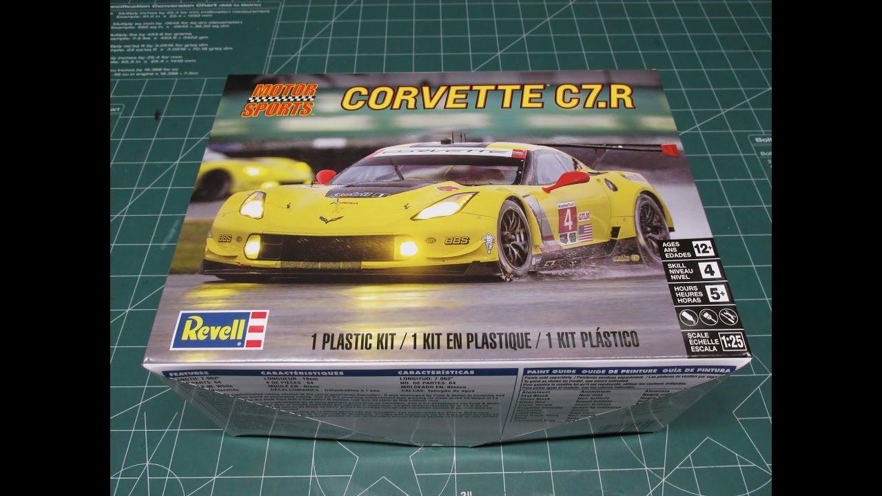 Revell Corvette C7R Model Kit Review 85-4304 - YouTube