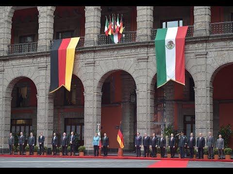 Visita de Estado de la Canciller Federal de Alemania, Angela Merkel: Ceremonia Oficial de Bienvenida