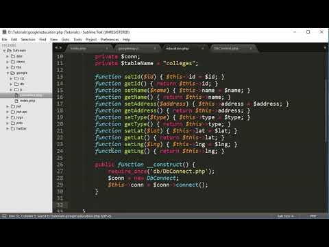 how to create php api server