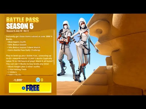 HOW TO GET FREE SEASON 5 BATTLE PASS! (Fortnite: Battle Royale)