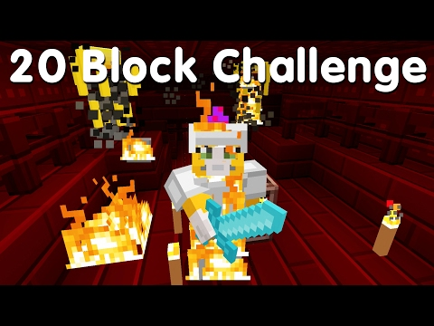 Minecraft PS4 - 20 Block Challenge - Into The Nether (22)