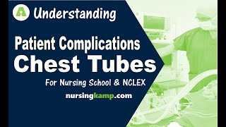 What are Chest Tubes Complications Nurse Assessment  Nursing KAMP  NCLEX review 2019
