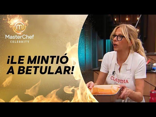 Caludia Fontán juntó comida del suelo en Masterchef Celebrity 2