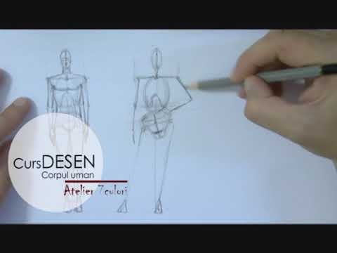 Curs DESEN – corpul uman. Anatomie artistica. - YouTube