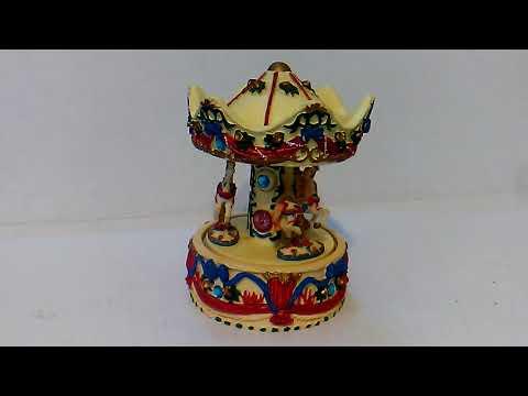 Music Box 3 Horse Carousel for sale Ebay Seller: gbhatchery