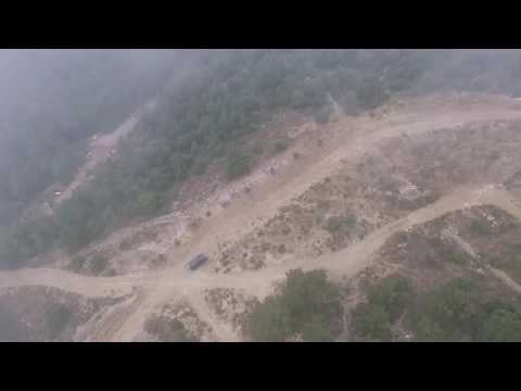 Foogy drone flight over Naas, Lebanon
