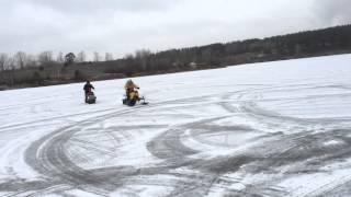 Снегоход РЫБОХОД(Первый пробный выезд на замерзшее озеро. В паре с Рыбоходом новый обновленный ЁРШ-2., 2014-12-01T17:18:13.000Z)