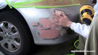 Professional Bumper Repair System Video 1. Part 2/5: Sand and Fill.