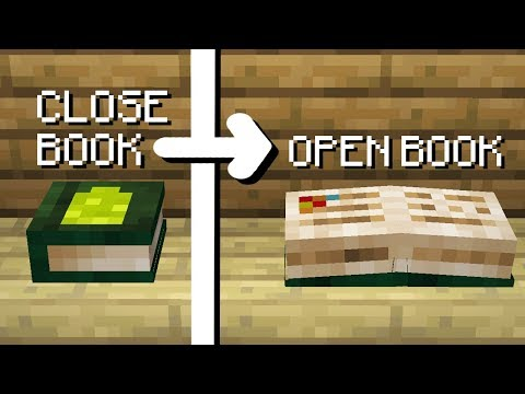 Minecraft   How To Make An Open Book