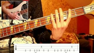 Primus - Shake Hands with Beef (bass tutorial with Tabs)