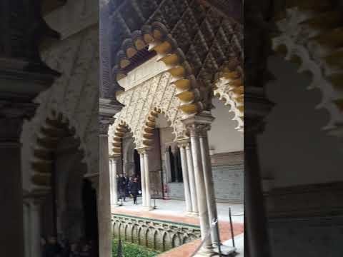القصر الملكي بإشبيلية alcazar real en sevilla. palais royal à séville.