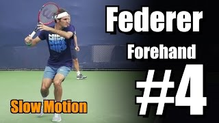 Roger Federer in Super Slow Motion | Forehand #4 | Western & Southern Open 2014