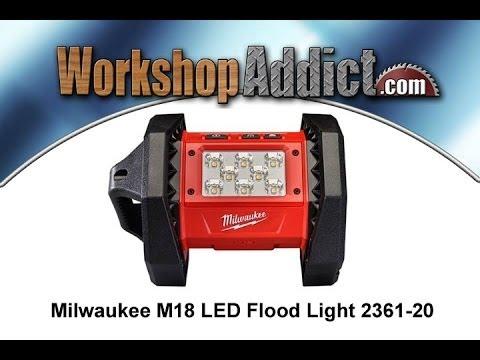 milwaukee 2361 20 m18 led flood light review youtube. Black Bedroom Furniture Sets. Home Design Ideas