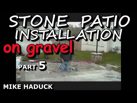 How I Install A Stone Patio On Gravel Part 1 Of 2 Mike