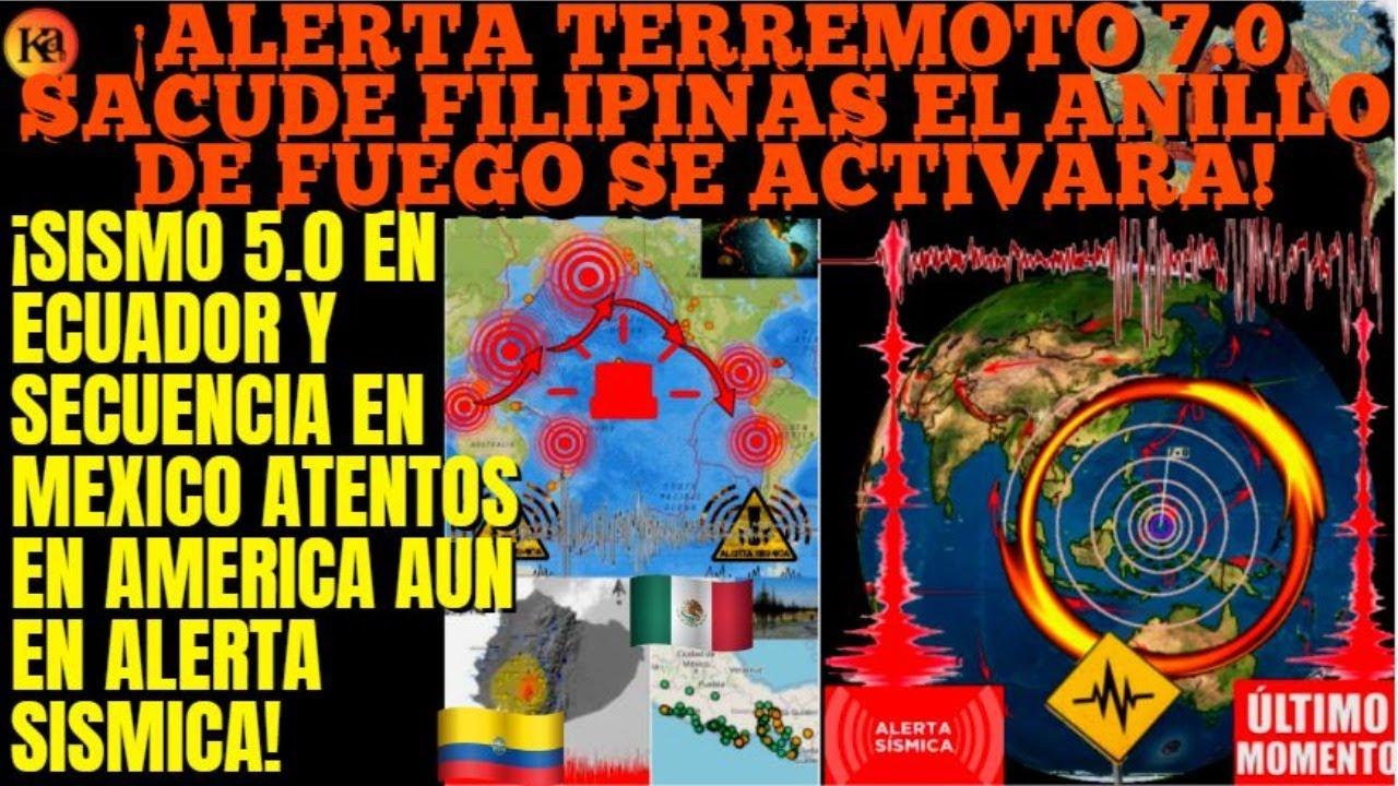 ¡URGENTE GRAN TERREMOTO 7.0 EN FILIPINAS PREPARENSE SOLO ES EL PRIMERO!¡SISMOS EN ECUADOR Y MEXICO!