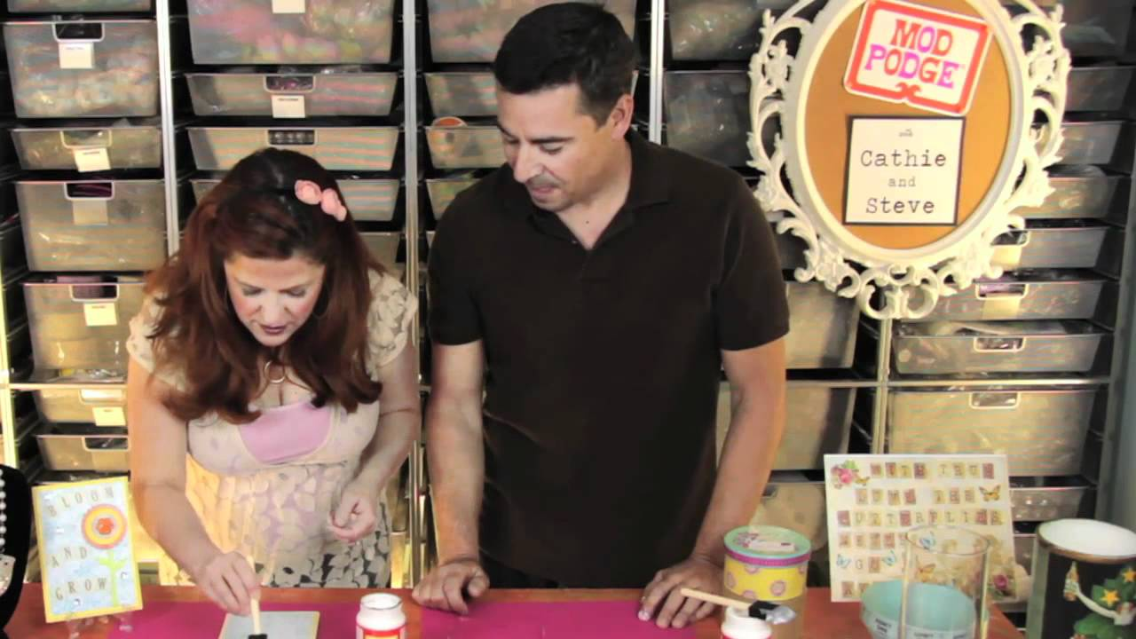 Transfer paper for wood crafts - Mod Podge Tutorial Basic Steps Of Applying Paper To Wood Using Mod Podge Youtube