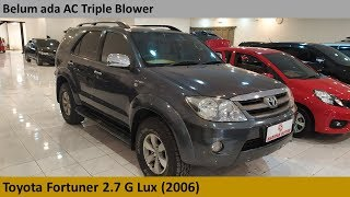 Toyota Fortuner 2.7 G Lux (2006) review - Indonesia