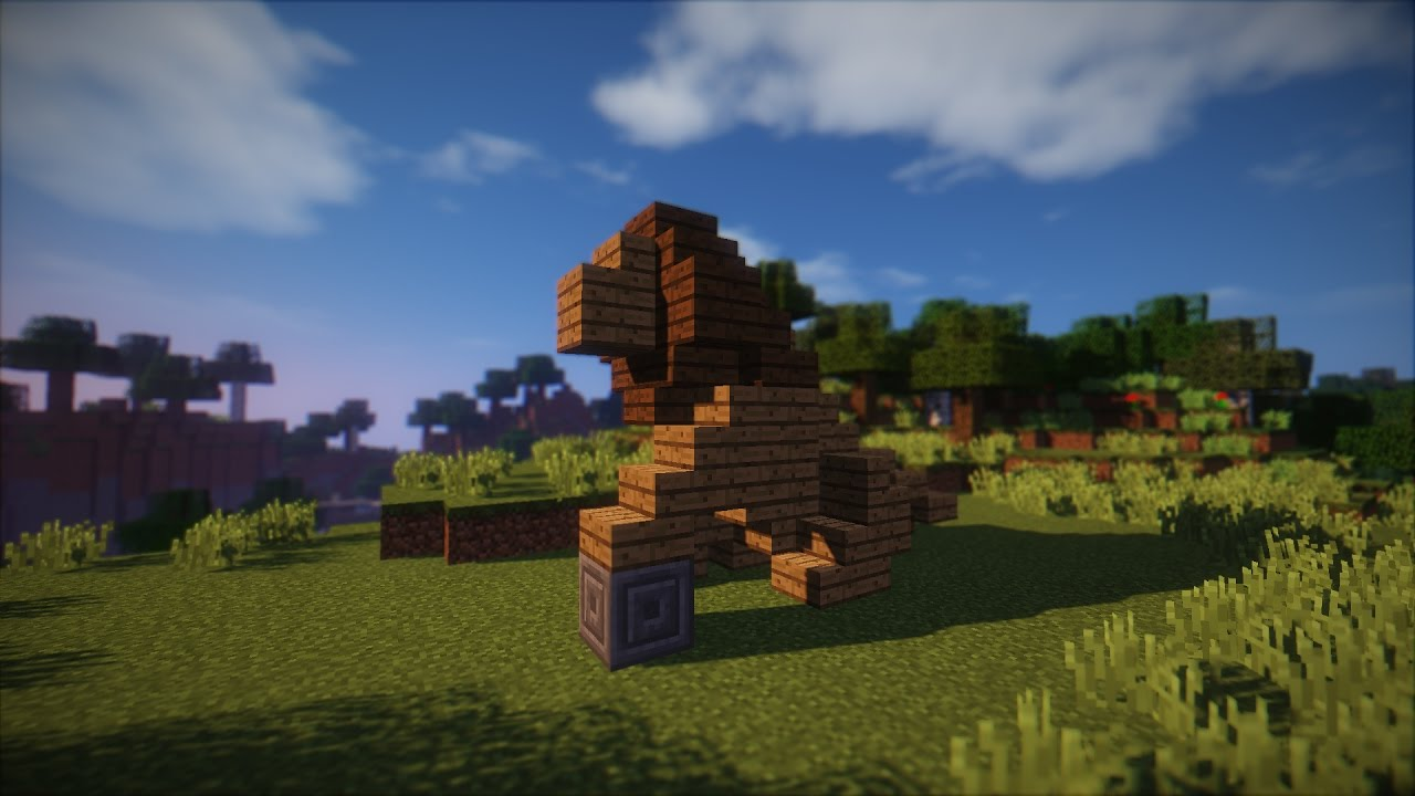 how to make a statue in minecraft