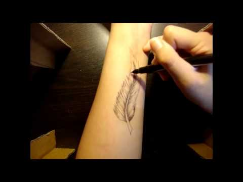 FEATHER TATTOO TUTORIAL