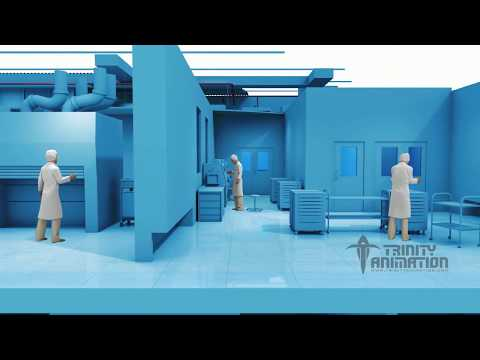 """Cartoon Style Animation - Non-Photo Real """"Doll House View of Clean Room"""