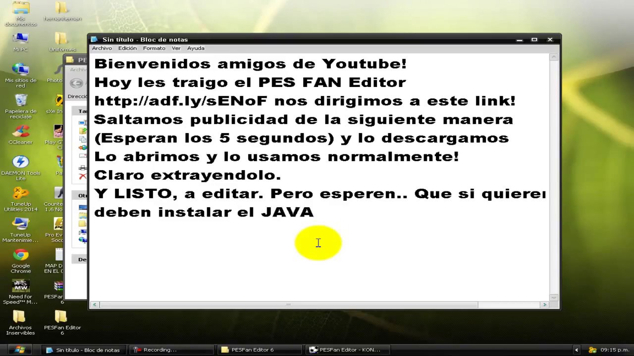 pes fan editor 5 descargar videos