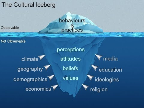 Image result for iceberg of culture