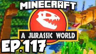 Jurassic World: Minecraft Modded Survival Ep.117 - NEW DINOSAURS EGGS CASES!!! (Dinosaurs Modpack)
