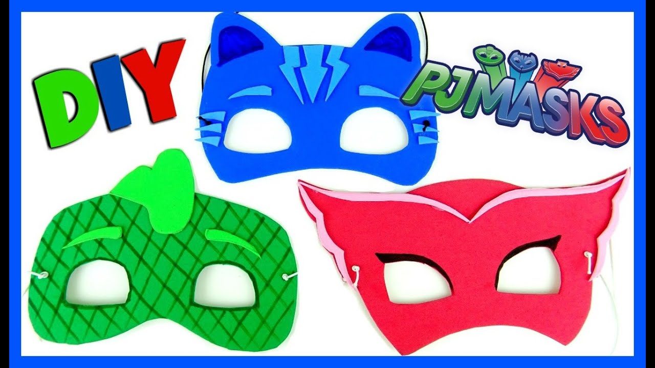 Pj Masks Disney Mask Diy Easy As 1 2 3 Catboy Owlette Gekko