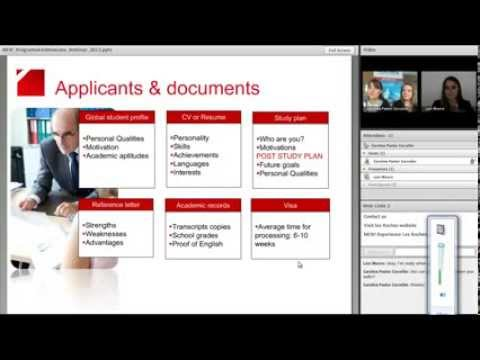 Choose the right program and submit a successful application - Webinar