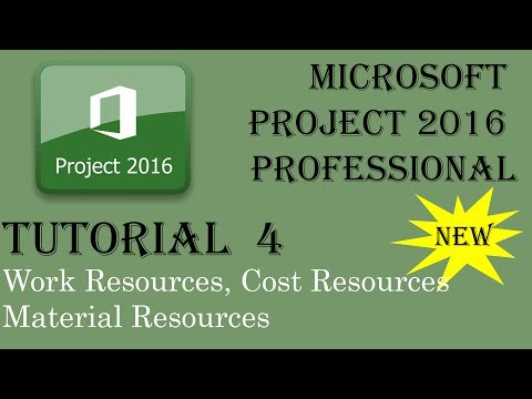Cost Resource | Work Resource | Material Resource in Ms Project 2016