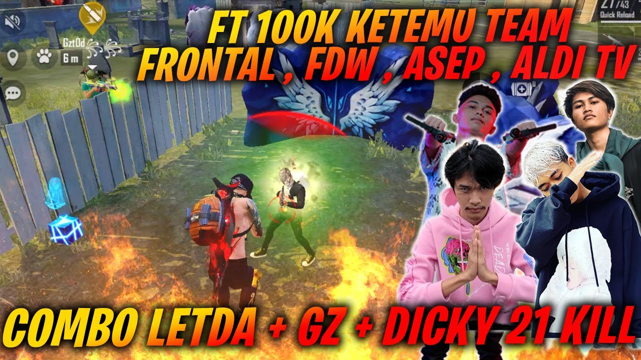 Fastur 100K Keras !! Harus Lawan Team ! FRONTAL ,EFDEWE, ASEP, ALDI TV !!! TOTAL KILL 21