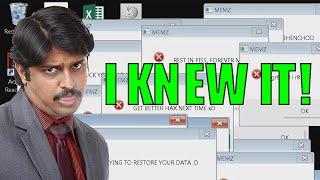 I KNEW IT! - Scammer Vs. MEMZ virus