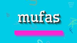 """Watch in this video how to say and pronounce """"mufas""""! The video is ..."""