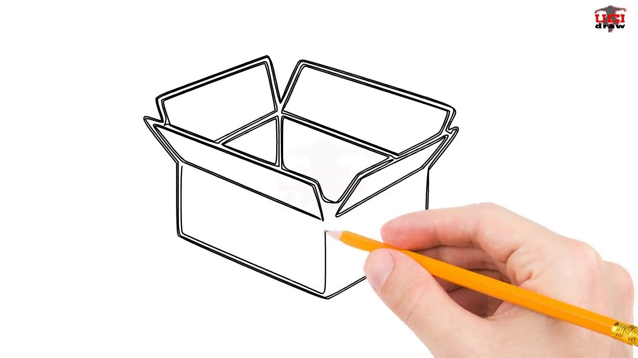 Easy Box Drawing Ideas | A Simple 3D Box Sketch For Beginners